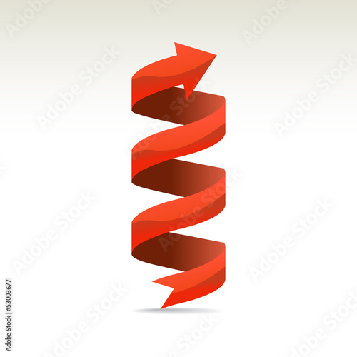 .Ad ribbon, 360¡ wrapped around own axis, illustration