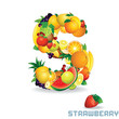 Alphabet From Fruit. Letter S