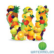 Alphabet From Fruit. Letter W