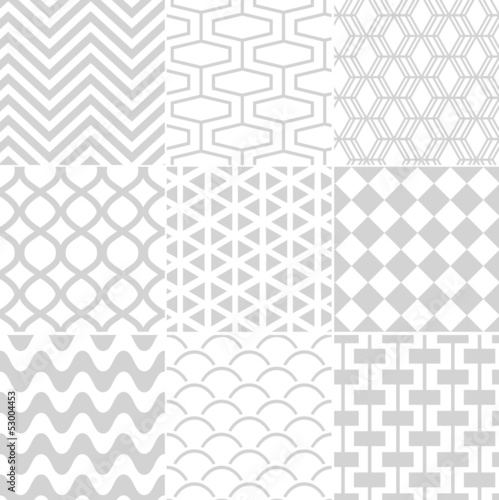 seamless white retro pattern