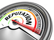 Leinwandbild Motiv reputation conceptual meter