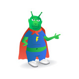 Extraterrestrial superhero character - illustration