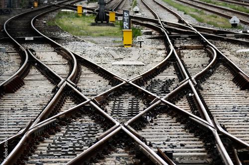 Fototapeta Railway station junctions