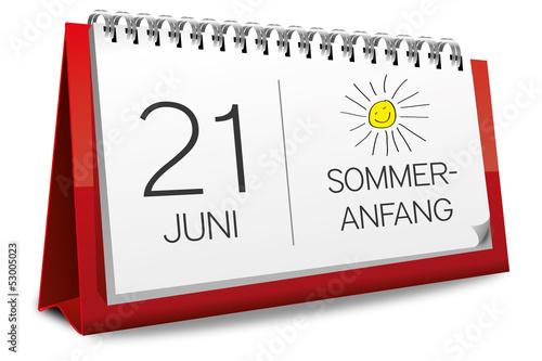Kalender 2013 Sommeranfang Sommer Anfang Sonnenstrahlen Sonne