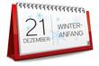 Kalender 2013 Winteranfang Winter Anfang Schneeflocken