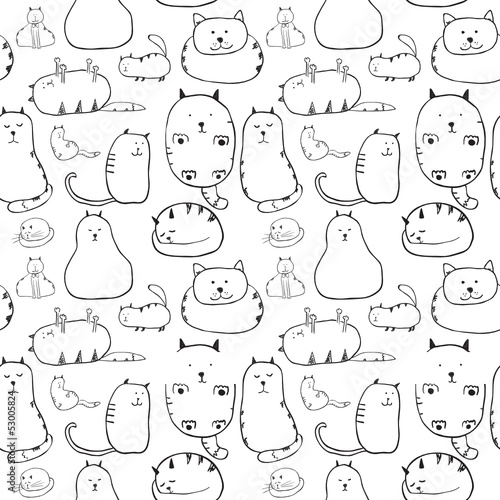 Cats. Seamless texture
