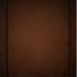 Brown leather background with stitches
