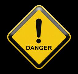 grungy warning sign