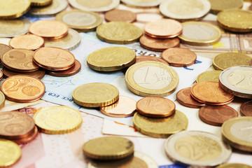 Geld, Nahaufnahme, Ein Euro