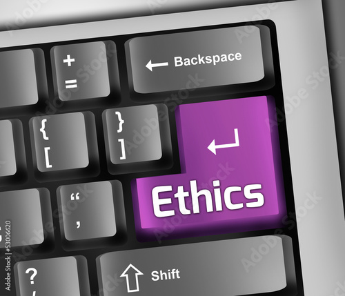 "Keyboard Illustration ""Ethics"""