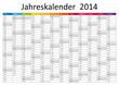 Kalender 2014 Jahresplaner Jahreskalender Wandkalender