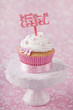 Cupcake with a cake pick