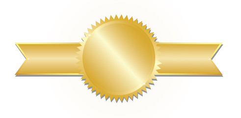Gold award. Vector