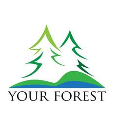 Vector Abstract Logo Green Mountain