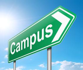 Campus sign.