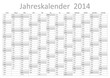 Kalender 2014 Jahresplaner Jahreskalender Wandkalender grau