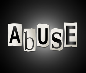 Abuse concept.