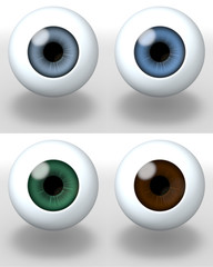 Augen Set dunkel