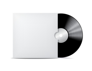 Vinyl record in blank cover envelope.