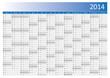 Kalender 2014 Jahresplaner Jahreskalender Wandkalender blau