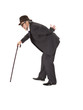 old man with a cane