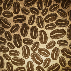 Vintage coffee background.