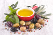 cooking oil and olives