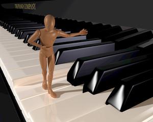 Präsentator auf Klavier
