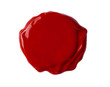 fresh wax seal isolated with clipping path included