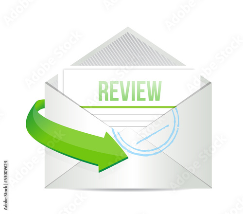 review email information concept illustration