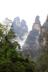 Natural scenery in Zhangjiajie National Geological Park