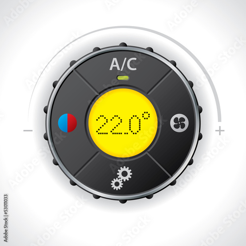 Air condition gauge with yellow led
