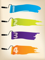 Infographic background design with paint rollers