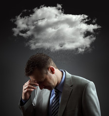 Depressed businesman