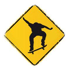 skateboard warning sign