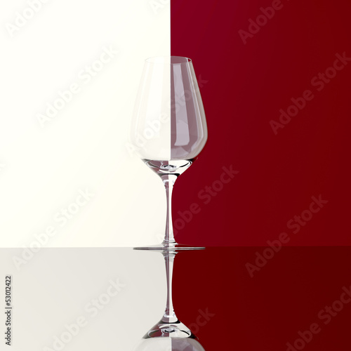glass of red or white wine