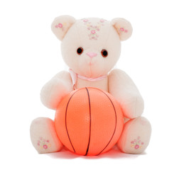 Teddy bear wants to play ball