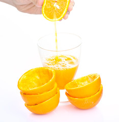 Vaso de zumo de naranja Natural