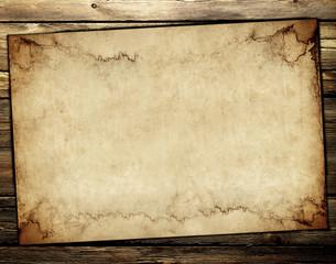 Carta Antica su legno