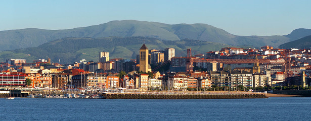 Seafront and pier of Getxo