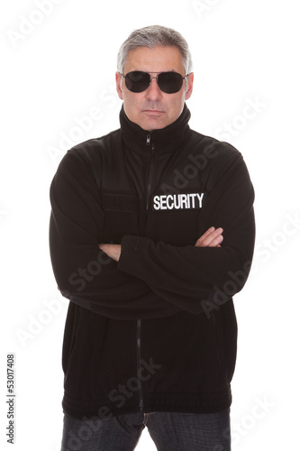 Mature security man