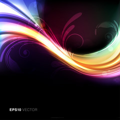 Colorful, bright and vivid abstract vector background