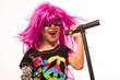 Beautiful Rock Star Girl Singing