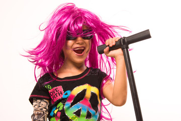 Beautiful Rock Star Girl Singing