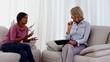 Therapist listening to patient