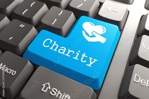 Keyboard with Charity Button.