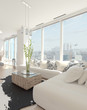 Modern Design living room with cityscape view