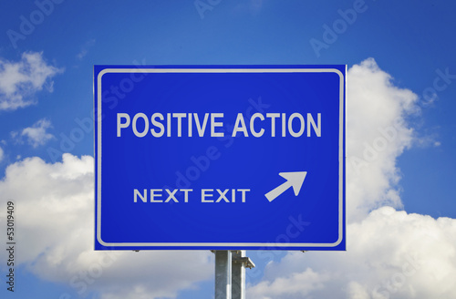 Road sign to positive action