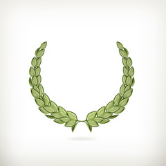 Laurel wreath, green