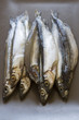 Raw fish capelin